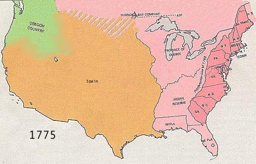 US Territorial Expansion - Us map in 1900